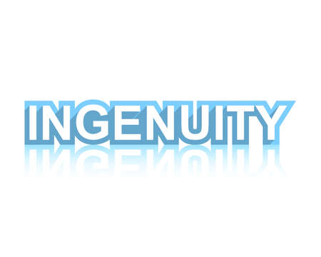 Ingenuity graphic word art with reflection  illustration.