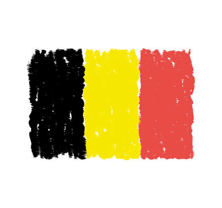 Grungy hand drawn flag of Belgium