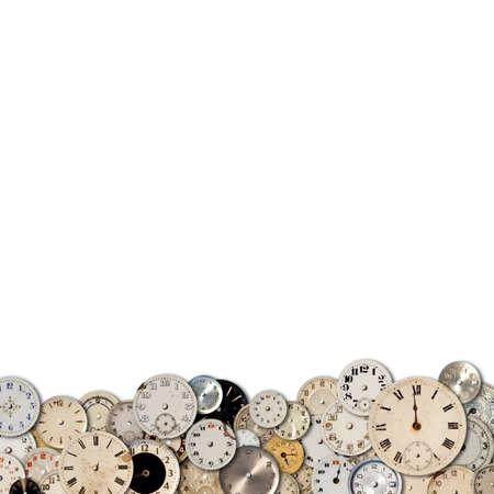 Antique watch faces steam punk background