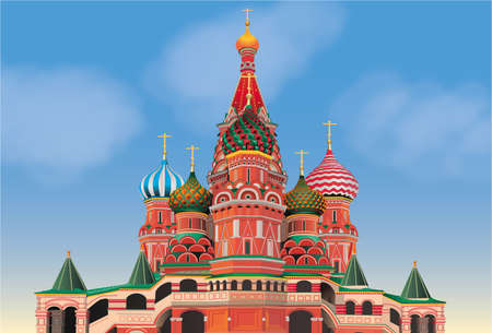 Cathedral Saint-Basile-the-Blessed of Moscow Ilustrace