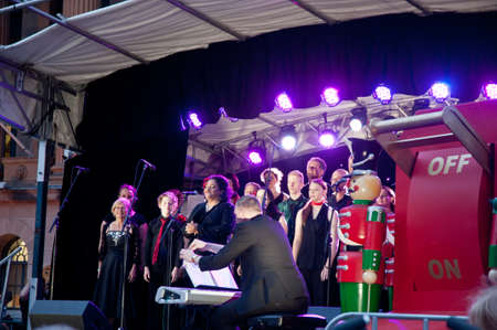 Singers sang in Brisbane Lightning up Christmas tree festival at city hall