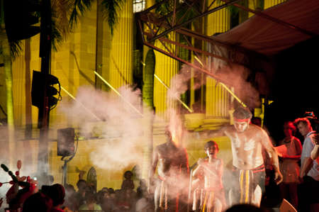 aborigines: Aborigin performance to light up fire in brisbane australia Editorial