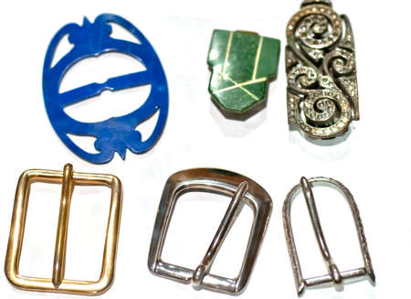 Collection of vintage buckles photo