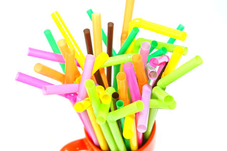 group of straws in a mug photo
