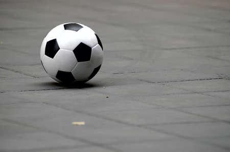 soccer ball on ground photo