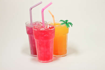mixed cold fresh juice photo