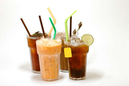 various types of iced tea photo