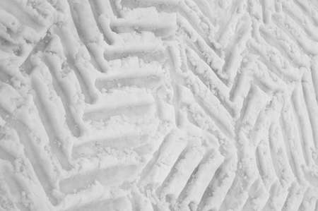 tyre mark on snow photo