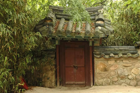 entrance to ancient oriental palance photo