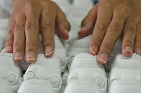 handmade car ceramic toy craftsmanship