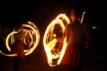 Exciting fire swirl performance photo