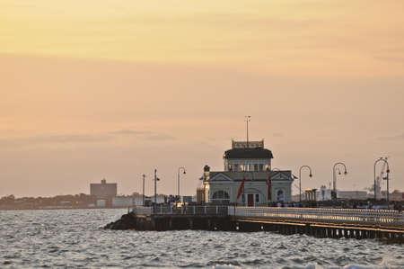 St Kilda Pier peaceful evening in Melbourne Victoria Australia