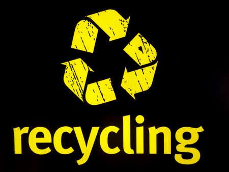 notice: Recycling notice yellow logo