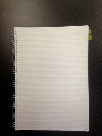 jot: Blank white office notebook page
