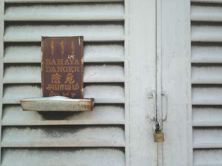 electrocute: Danger sign electrocute in Malaysia