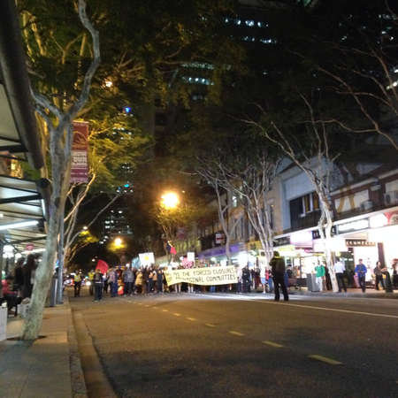endanger: Protesters in Brisbane marching against closure Aboriginal communities