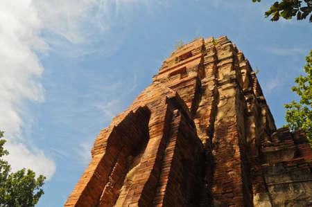 ruin: Ruin of ancient palace in Ayudhaya Thailand