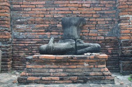 ruin: Ruin of Buddha ancient statue in Ayudhaya Thailand