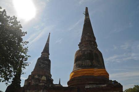 buddhist stupa: Ancient Buddhist stupa in Ayudhaya city Thaialnd