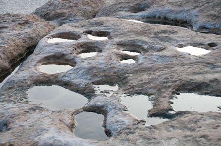 yan: Natural stone holes in Yan Ming San Taiwan
