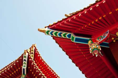 sun roof: Wenwu temple roof in Sun Moon Lake Taiwan