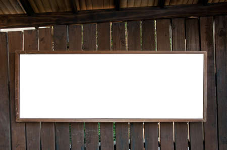annoucement: Annoucement board in Asian style on wooden wall