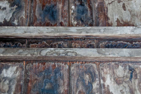 walk board: Black and dirty wooden board walk