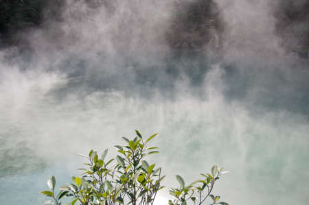 steamy: Hot spring steamy lake Stock Photo