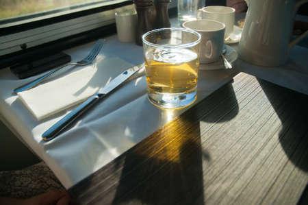 cordial: Apple cordial drink for breakfast