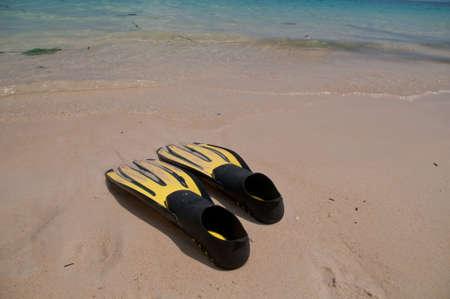 flipper: Flipper on Phuket beach sunny day Stock Photo