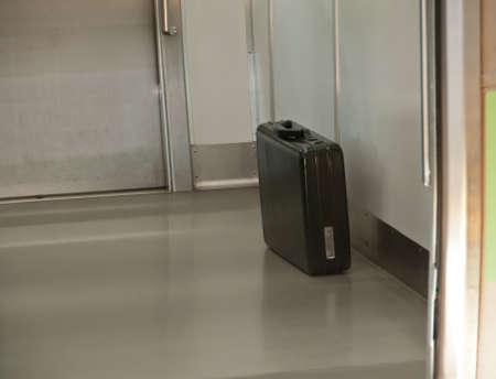 Abandon mysterious business secret bag left on a train