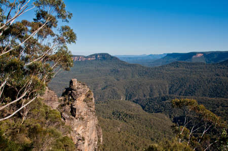 Famous Three sisters rock formation at Blue Mountain in Sydney NSW Australia