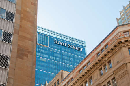 SYDNEY, AUSTRALIA - MAY 5, 2018: State Street Corporation Bank headquarters office in the center of Sydney NSW Australia