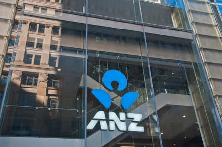 SYDNEY, AUSTRALIA - MAY 5, 2018: An Australia and New Zealand (ANZ) Bank store office in Martin Place in Sydney NSW Australia. Editorial