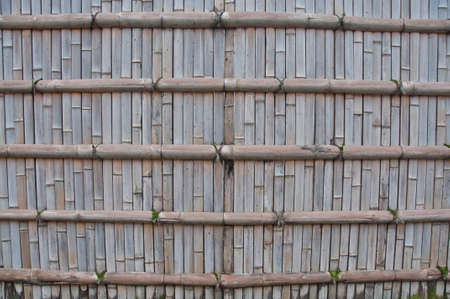 Wooden old vintage brown strong bamboo fence background wallpaper
