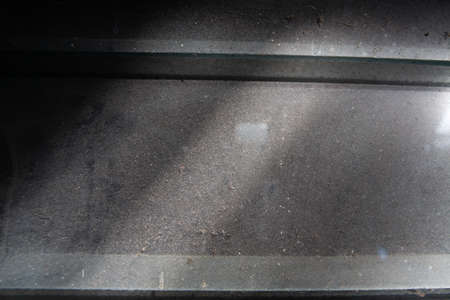 Dust and dirty glass louver window, Close up and macro shot, Light & Shadow, Home cleaning concept 版權商用圖片