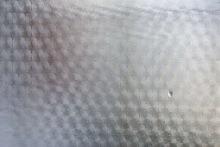 Frosted Glass with Water drops texture background, White colour, Close up & macro shot, Reflection, Home decor concept