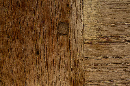 Putty wood on wooden texture background, Repaired door, Close up & Macro shot, Selective focus Stok Fotoğraf
