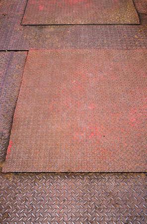 Green diamond metal floor, Abstract industrial background