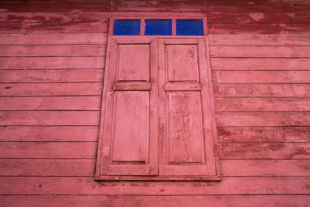 Vintage wooden home window, Thailand traditional style 写真素材