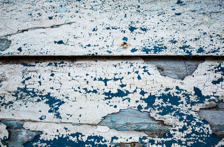 old wooden texture, white and blue background