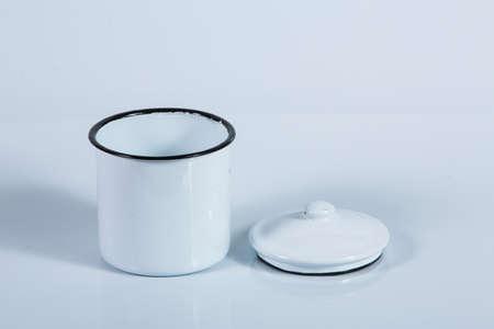 Zinc coated tin isolated on white background