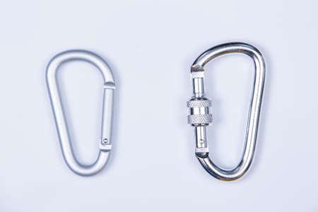 Snap hooks isolated on white background Zdjęcie Seryjne