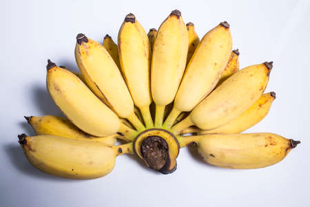 Cultivated banana isolated on white background