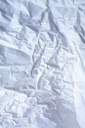 White colour and Grey colour crumpled paper texture, Abstract background, Gradient tone, Close up shot Stock Photo