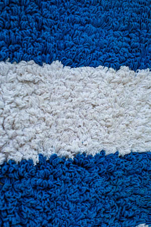White and Blue carpet texture background, Close up & Macro shot, Living room and bathroom concept