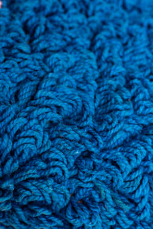 Blue twine carpet texture background, Close up & Macro shot, Selective focus, Living room and bathroom concept Zdjęcie Seryjne