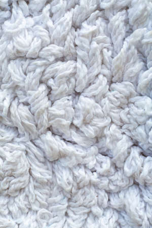 White twine carpet texture background, Close up & Macro shot, Living room and bathroom concept Zdjęcie Seryjne