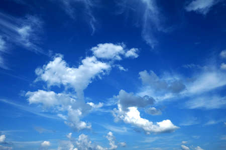 firmament: Blue Sky and White Cloud Stock Photo
