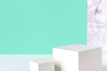 Abstract background mock up with podium for product display